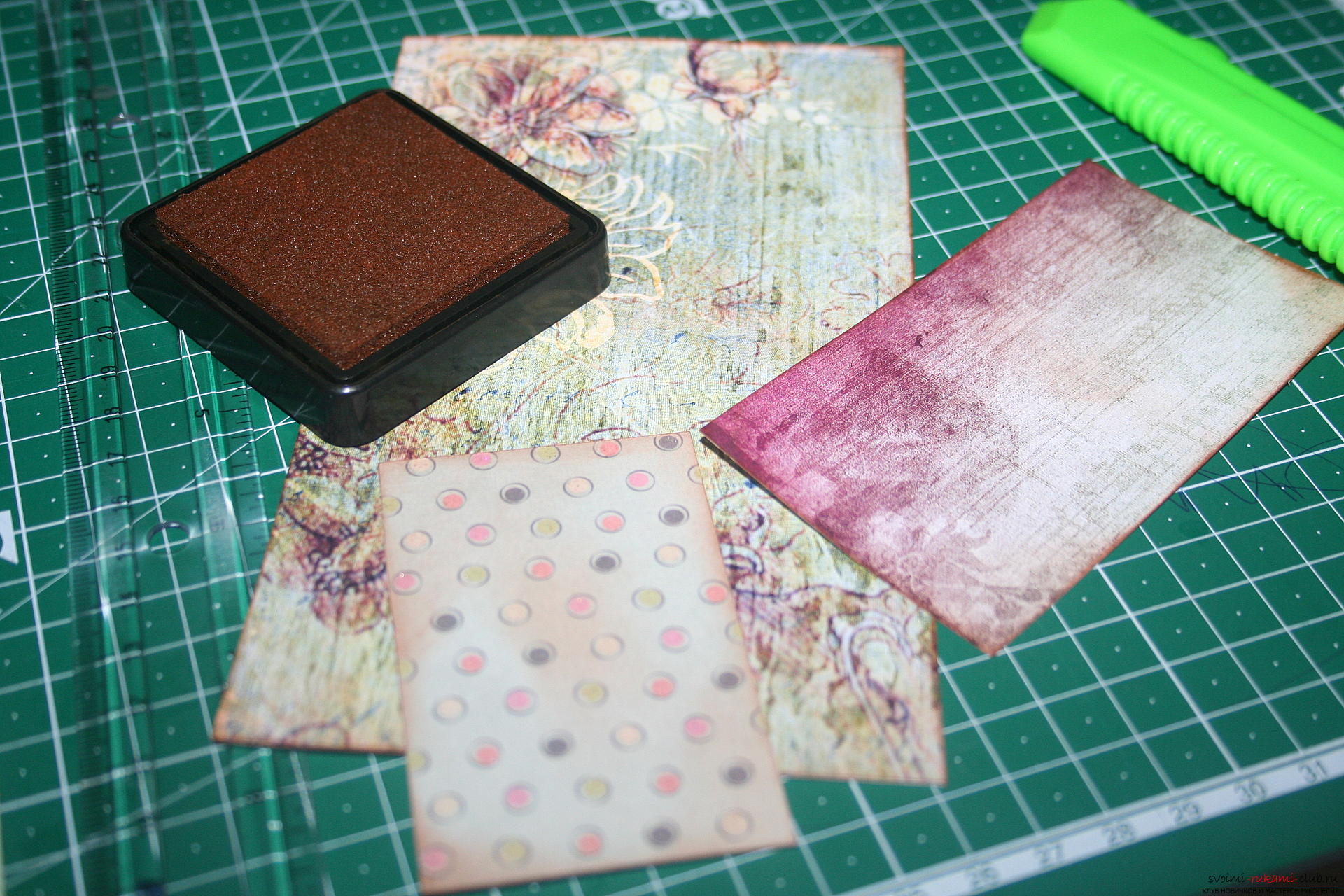 This master class will teach you how to create a notebook using scrapbooking techniques. Photo №8