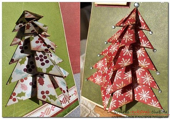 New Year's scrapbooking of Christmas cards with their own hands - a master class. Photo №1