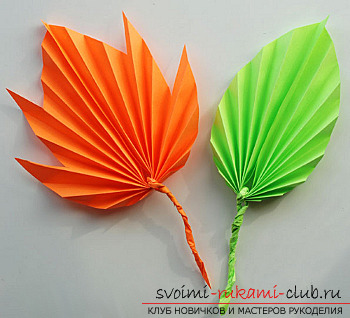We make autumn articles from paper .. Photo №13