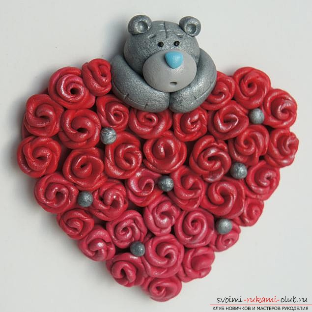 Clay valentine, materials for valentine for free, photos .. Photo №1