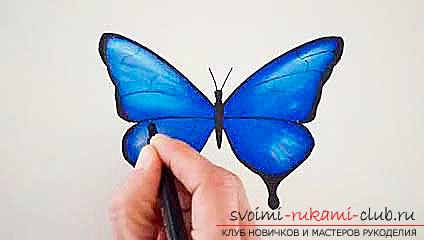 Master class on drawing a butterfly pastel with your own hands. Photo №7