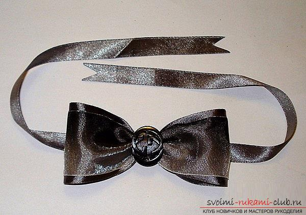How to make a bow-tie and a bow tie in Kansas technique, detailed master classes with step-by-step photos and process description .. Photo # 43