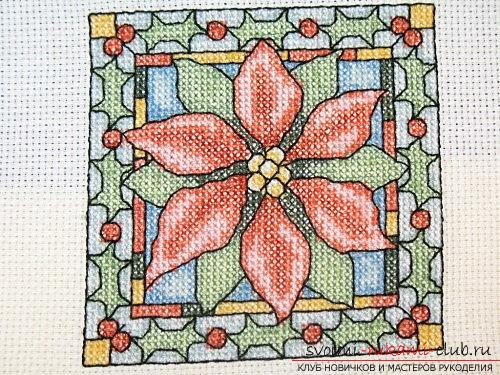 Create the perfect wrong side in the cross-stitched picture. Photo №4