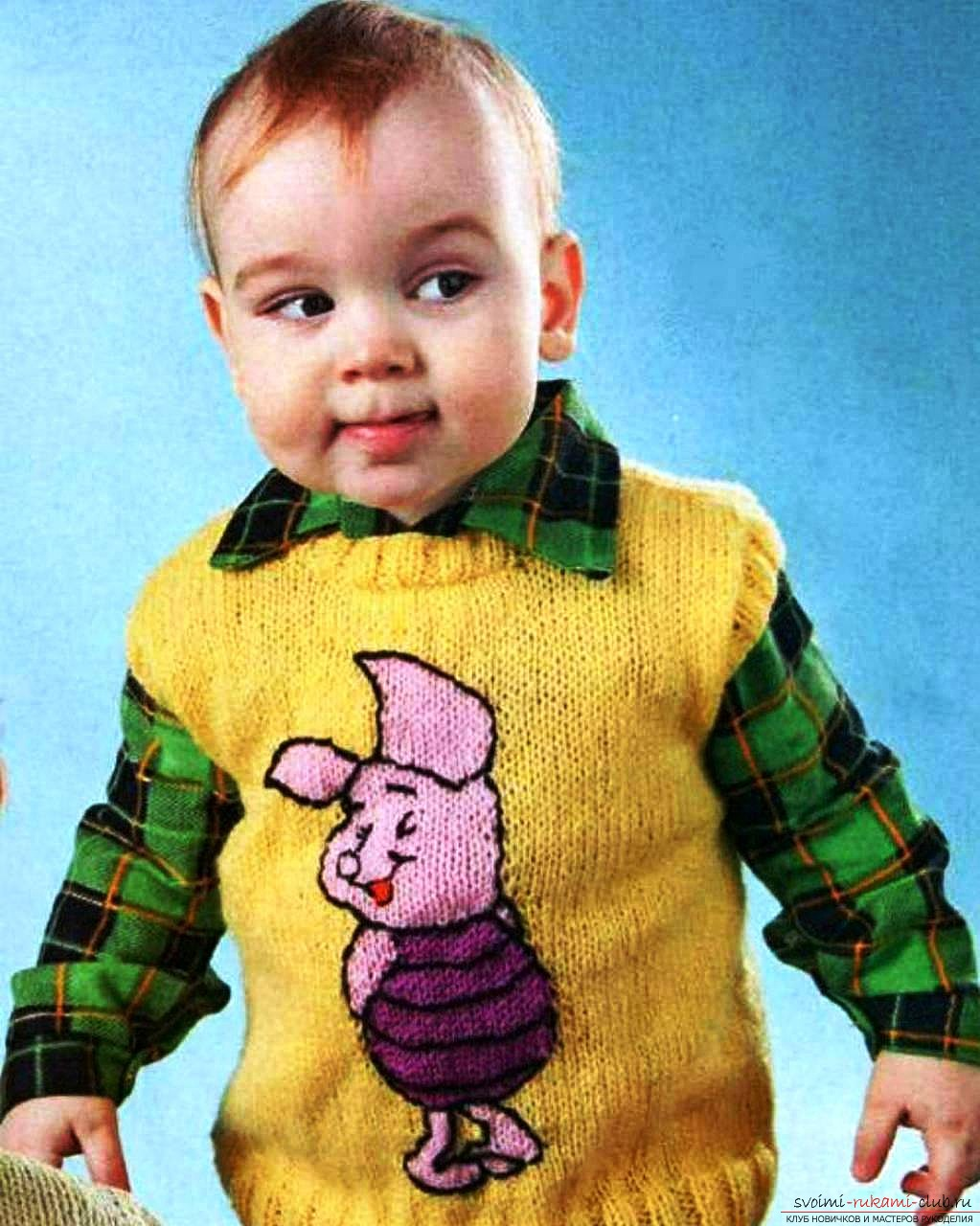 knitted children's vest. Photo Number 11