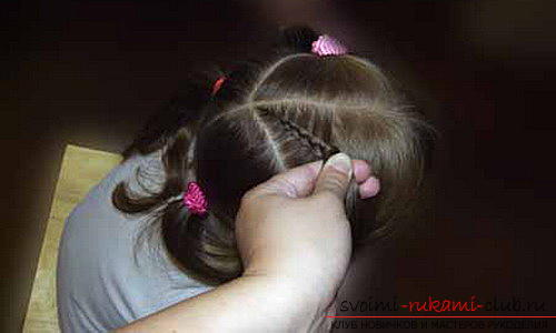 We learn to make beautiful hairstyles for medium hair for girls with our own hands. Photo Number 11