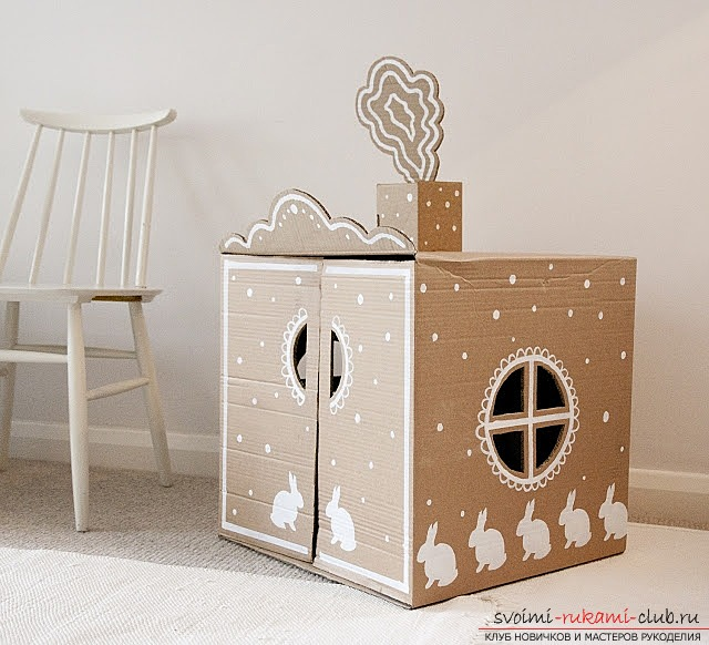 Crafts made of cardboard boxes made by own hands. Photos and simple ideas .. Picture №1