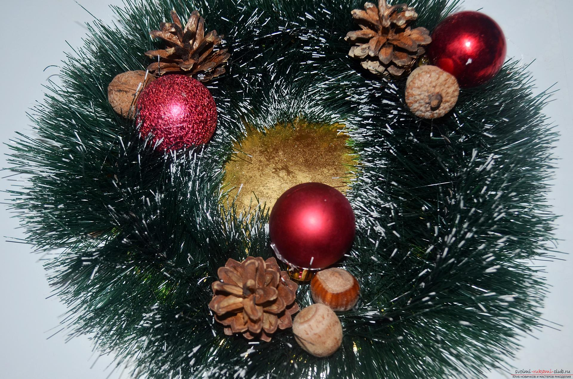 The master class will tell you how to make your own handiwork - a Christmas song with a candle. Photo №5