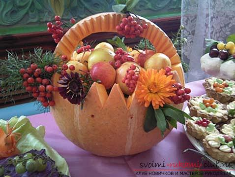 How to make an original hand-made artifact from your pumpkin. Picture number 7