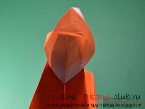 How to create crafts in the classic origami, creating a Christmas tree in the technique of modular origami .. Photo # 56