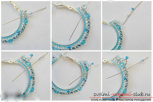 Free master classes with step-by-step photos on weaving earrings from beads .. Photo №15