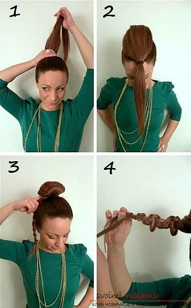 Masterclasses to create fashionable hairstyles on medium-length hair with their own hands for 5 minutes. Picture №3