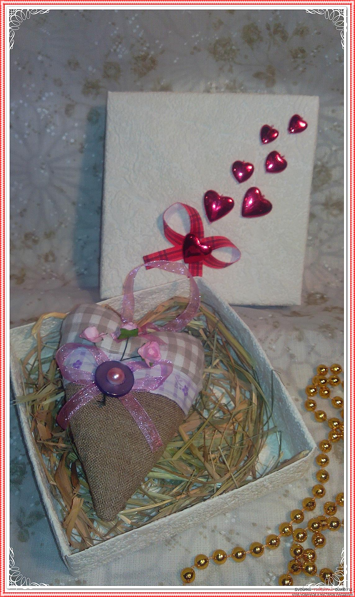 Master class on the creation of textile hearts, impregnated with the scents of flowers. Photo №4