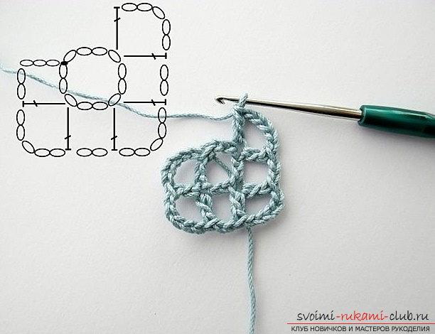 We make a beautiful napkin - crochet patterns and patterns for work. Photo Number 9