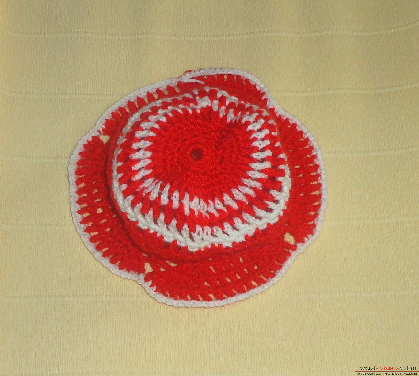 Master class on knitting a baby cap with a crochet with step-by-step instructions and photos. Photo №8