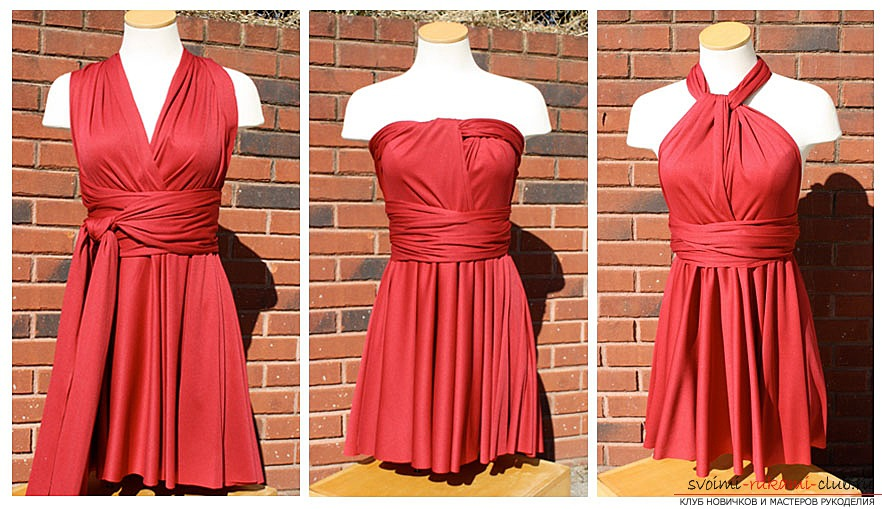 sew the dress transformer with your hands. Picture №10