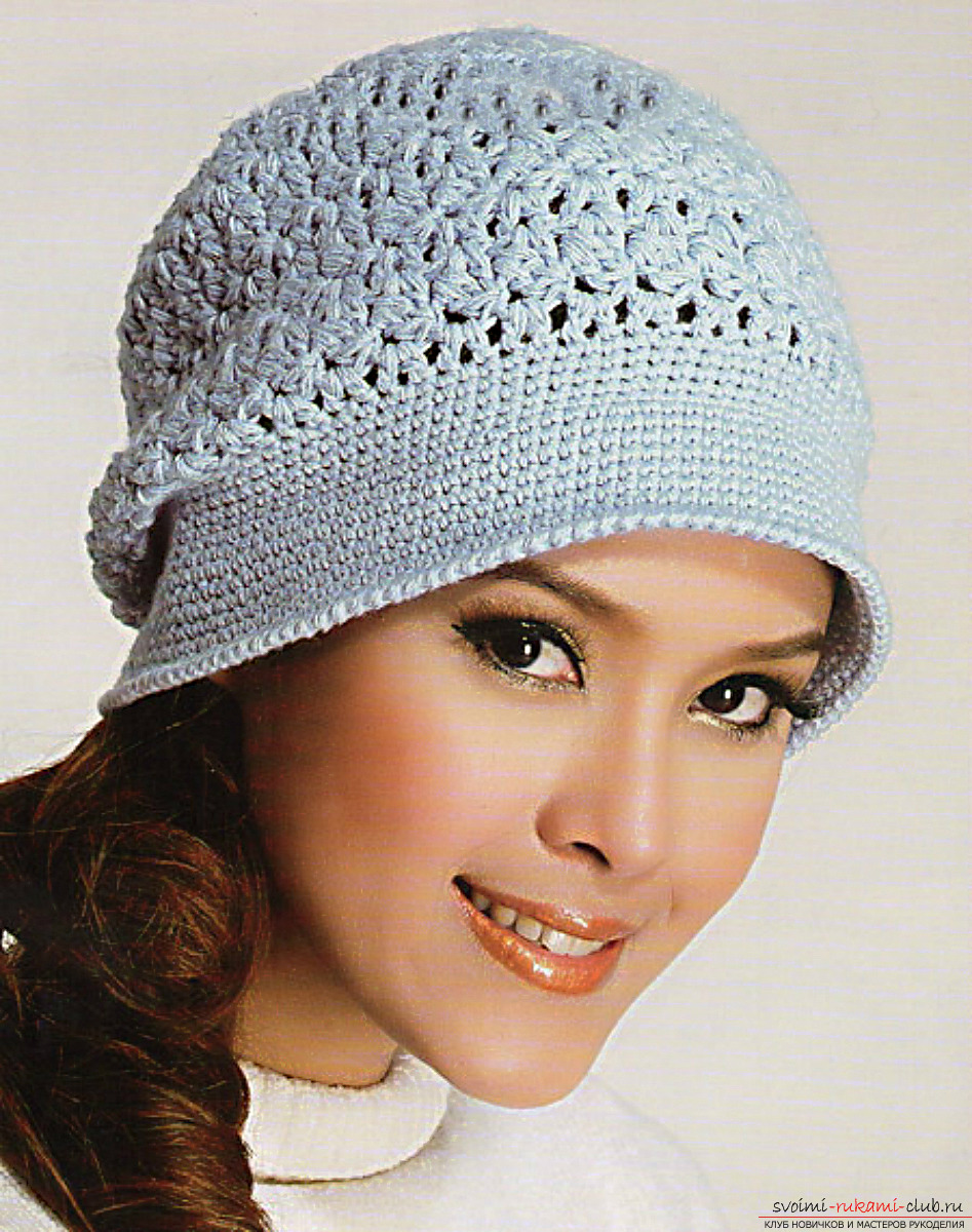 Crocheted comfortable winter hat. Photo №1
