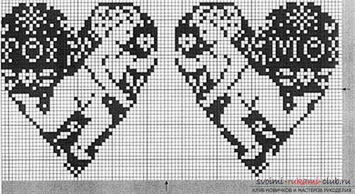 Black and white cross stitch patterns with description. Photo №4