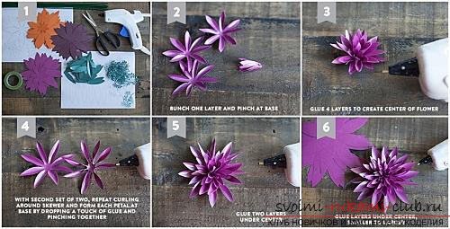 Flowers with their own hands, how to make a flower of paper with their own hands, flowers made of corrugated paper, tips, recommendations, step by step execution instruction .. Photo # 18
