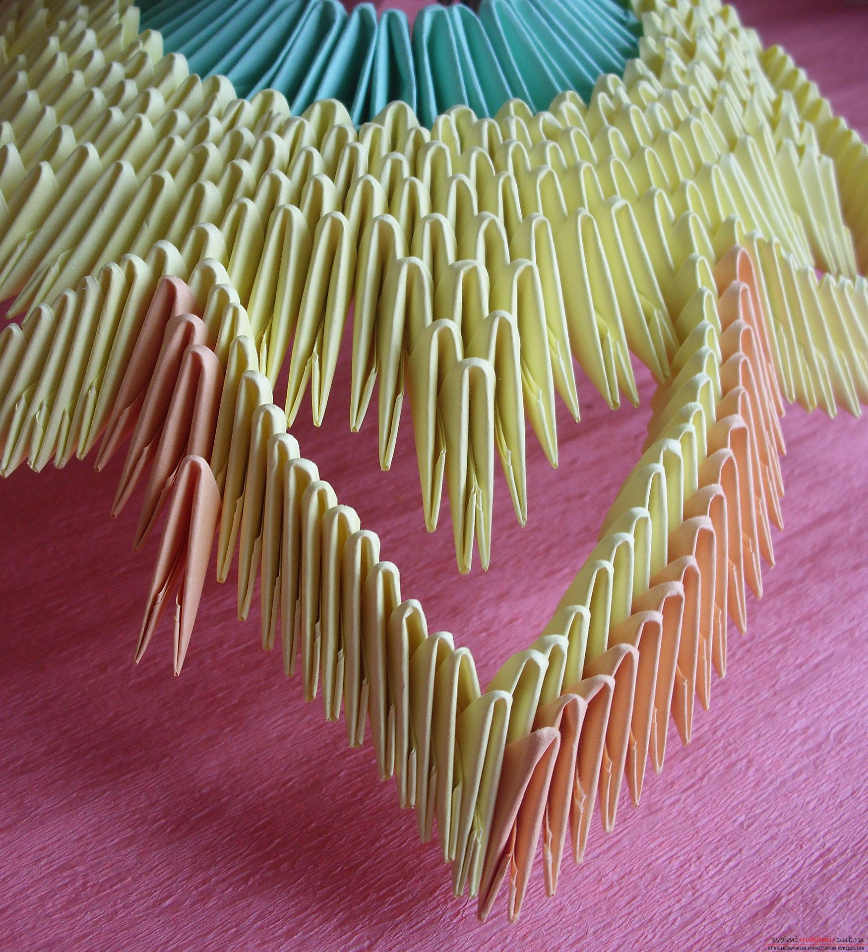 This master class will teach you how to make a vase with your own hands from a modular origami .. Photo # 9