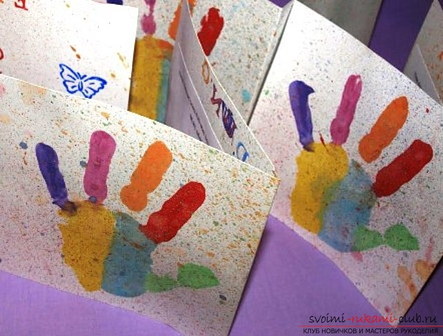 Baby postcards made by own hands. Pictures of children's postcards for the holiday .. Picture №1