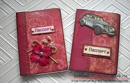 Scrapbooking women's passport passport with flowers and drawings - master class. Photo # 2
