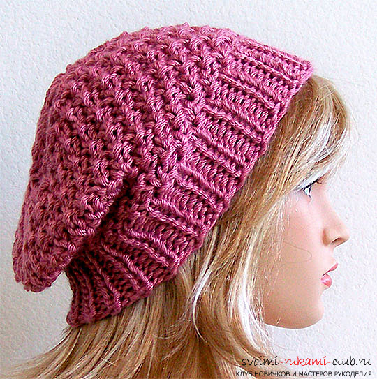 Fashionable beret, crocheted, for beginners. Photo №1