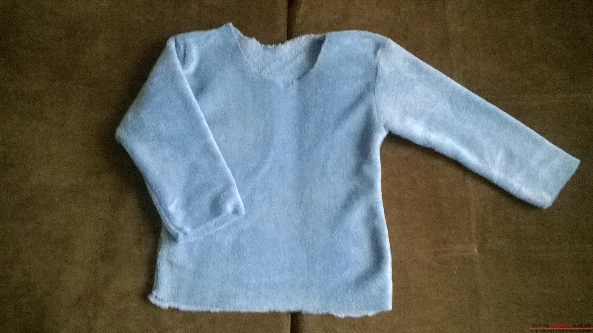 A detailed master class will teach how to sew a children's sweater for a boy with an applique. Photo №4