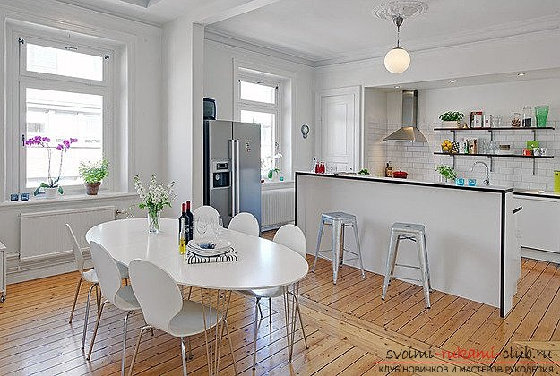 photo examples of interiors of kitchens in the Scandinavian style. Photo №4