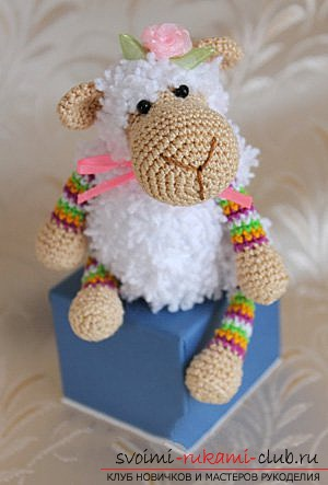 We knit a sheep with our own hands. Picture №10