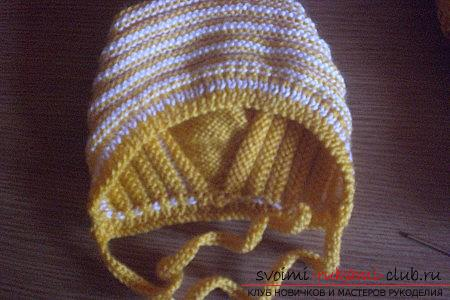 Knitting needles for newborns, tips andtricks for knitting clothes for young children, a cap for newborns with their own hands, how to tie booties for newborns, knitting lessons with descriptions, recommendations and master classes .. Photo №11