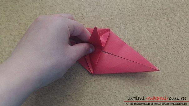 This detailed master class contains an origami-dragon scheme made of paper, which you can make by yourself. Photo # 26