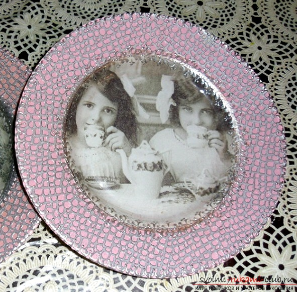 How to make decoupage plates, a detailed master class. Photo №1