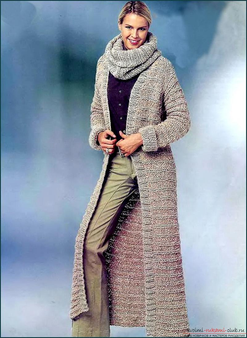 women's coats knitted with knitting needles. Photo №5