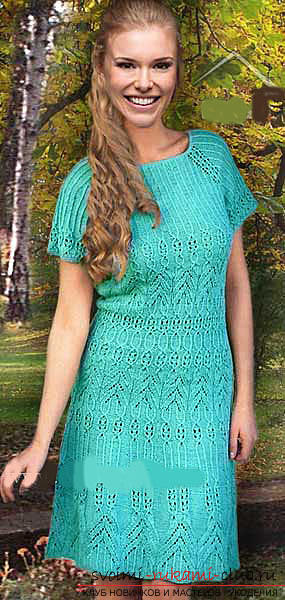 Quickly and easily knit a light purple summer dress. Picture №3