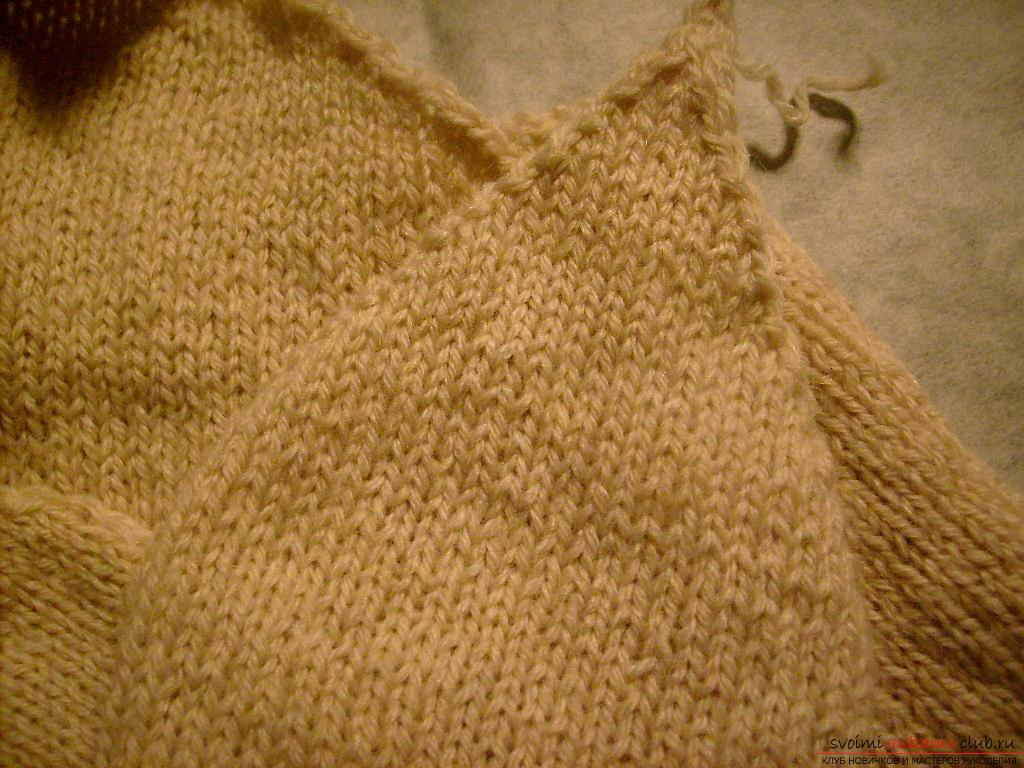 This master class with a pattern will teach how to tie a hat with ear flaps with knitting needles .. Photo # 5
