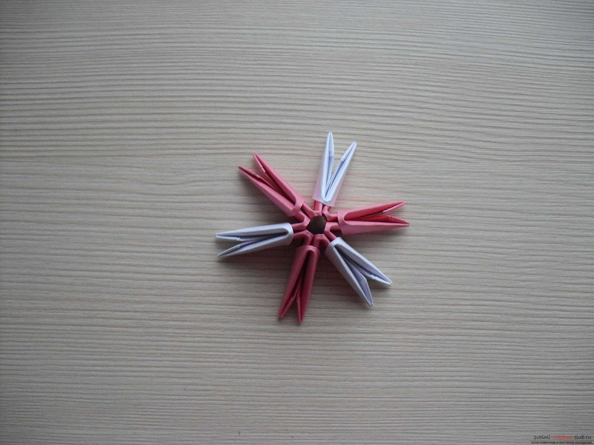 This master class will teach you how to make a modular origami - a fly agaric mushroom .. Photo # 3