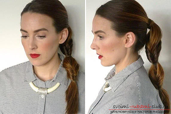Master classes on creating hair styles for hair of medium length with their own hands. Photo Number 21