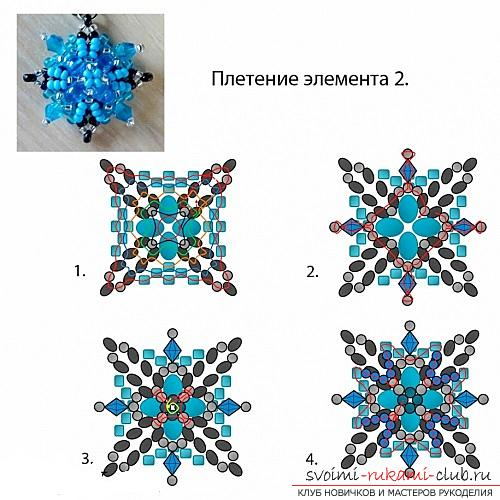 Free master classes with step-by-step photos on weaving earrings from beads .. Picture №7