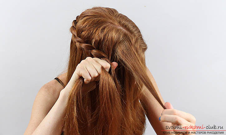 Braids for medium hair, tips and advice on weaving the braid with their own hands .. Photo # 5