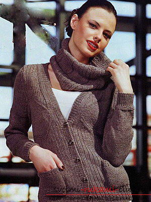 Original and comfortable clothes with knitting needles for winter - 2015. Photo №5