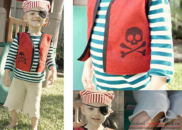 We naaien het kostuum van Jack Sparrow met onze eigen handen op een patroon. Afbeelding №10