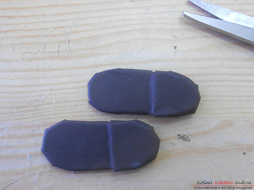 Building a pattern of shoes for the doll and making them .. Photo # 19