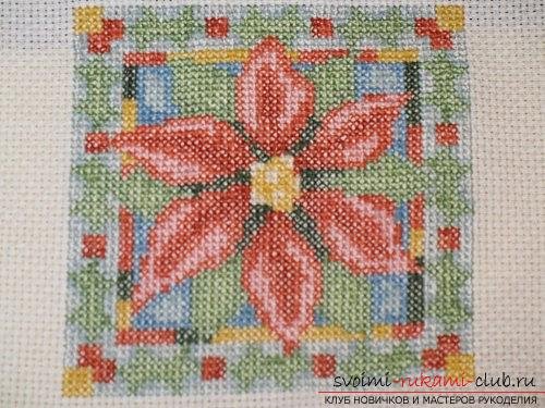 Create the perfect wrong side in the cross-stitched picture. Photo №1