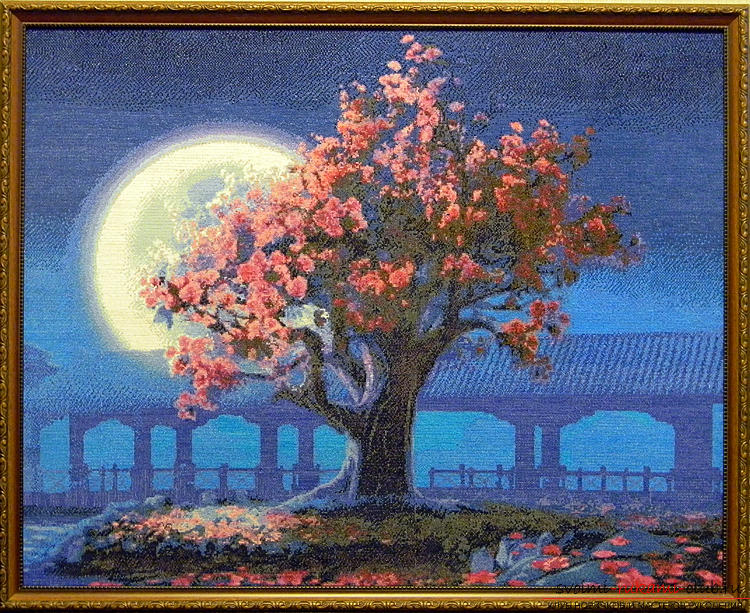 Cross-stitch embroidery of landscapes with schemes for beginners. Picture №10