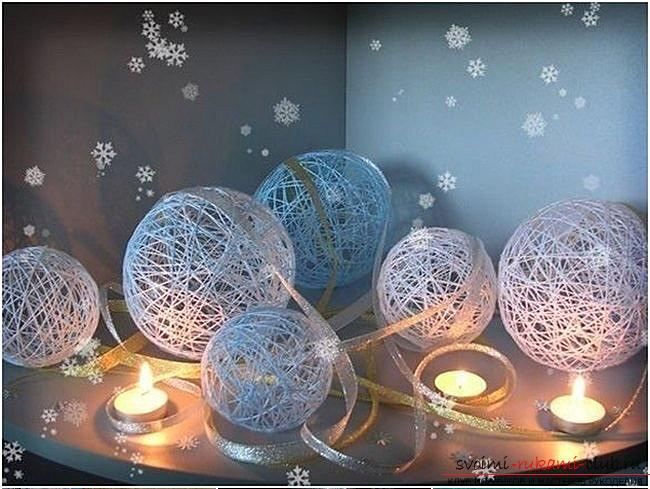 How to make Christmas trees: balls, snowflakes and much more with their own hands, master classes to create Christmas tree toys with step-by-step photos and descriptions. Photo №4