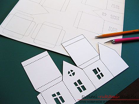 make a house of paper with your own hands. Photo # 2
