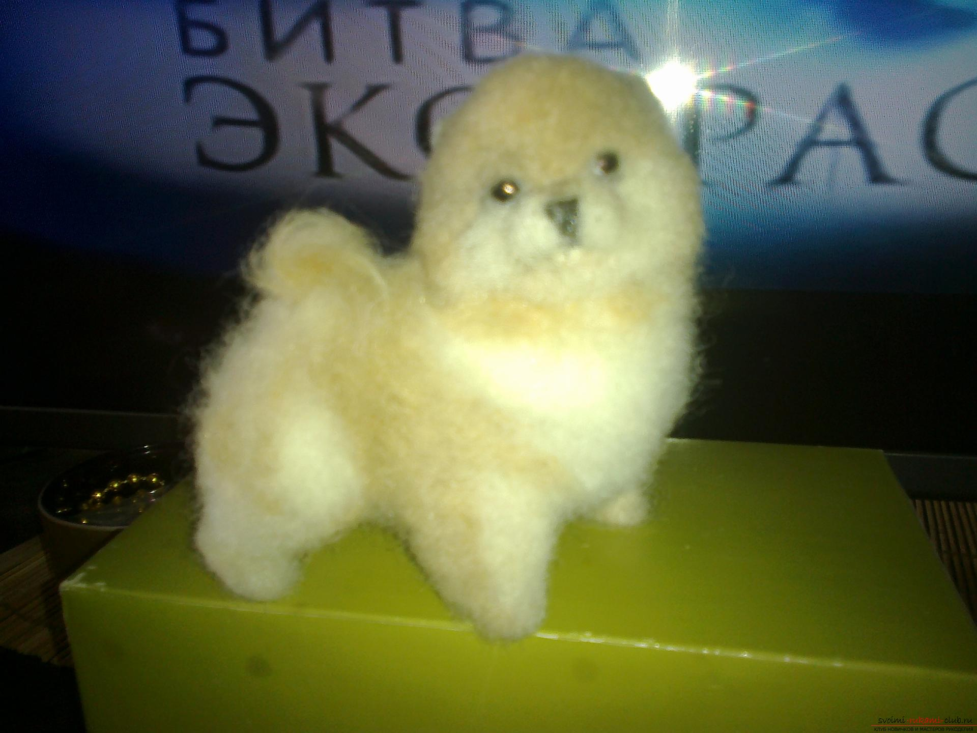 Description of toys in the form of puppies of popular breeds, made in the technique of dry felting. Photo №7