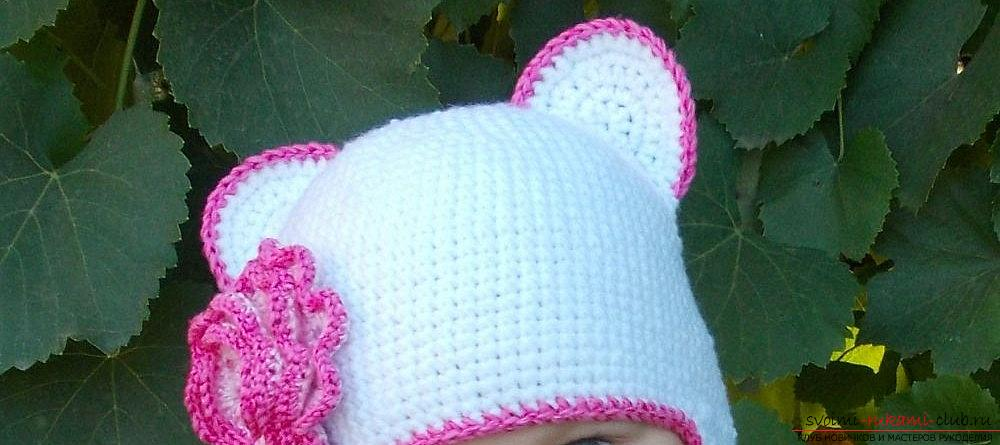 How to tie a bright crochet hat for a child - methods of knitting hats for children. Photo №1