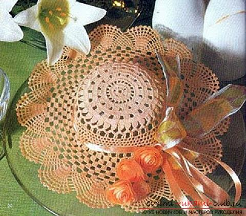Schemes and a description of how to crochet a summer hat for a woman, photo items .. Photo # 1