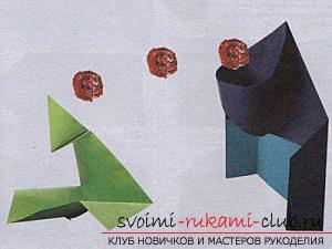 Hoe maak je handwerk in de klassieke origami, maak een kerstboom in de techniek van modulaire origami .. Foto №58